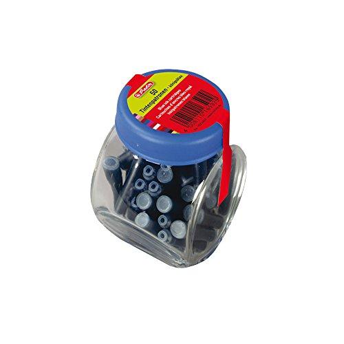 Herlitz 10314847 Tintenpatronen im Glas, 50 Stück