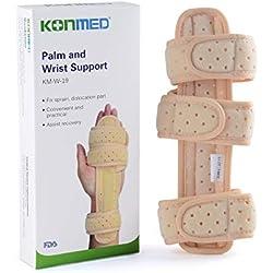 OBER Armbänder medizinische Handgelenksbandage/Fingerschiene, aus Aluminium, mit Gurt, bei Karpaltunnelsyndrom/Fraktur/Arthritis-Schmerzen