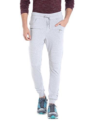 Campus Sutra Men Grey Track Pant (AZZ17_TPF2PK_M_PLN_GR_AZ_M)