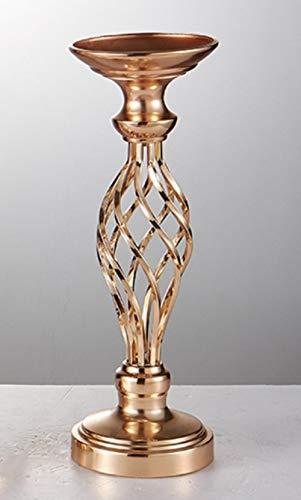 Generic Blumen Vasen Kerzenhalter Gold/Silber Road Blei Tischdekoration Metallständer Kerzenhalter Für Hochzeit Kandelaber, Gold, 40cm