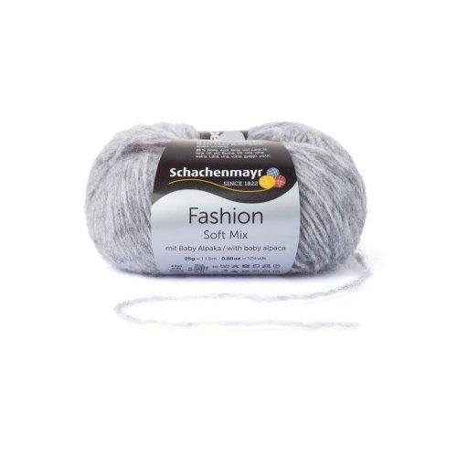 Schachenmayr Soft Mix - Farbe: Mittelgrau (00090) - 25 g / ca. 113 m Wolle