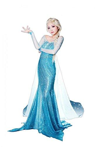 DELUXE Kostüm Eisprinzessin FROZEN ELSA, (Erwachsene Königin Elsa Kostüme)