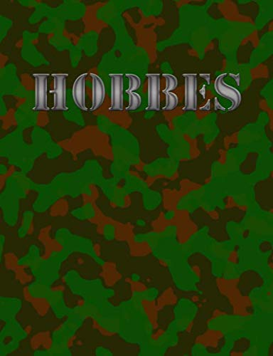 Preisvergleich Produktbild Hobbes: Military Camouflage Cover Notebook,  Half Blank Half Wide Ruled Pages,  Personalized Gift for Boys Named Hobbes