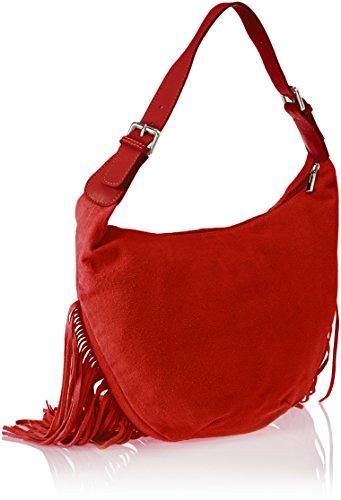 Chicca Borse Damen 8630 Schultertasche, 40x27x7 cm Rosso (Red)