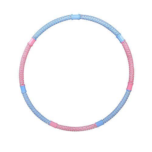 Meetforyou Fitness Hula Hoop Reifen Abnehmbare gewichtete Übung Hula-Hoop-Reifen mit verschärften Massageperlen für Männer und Frauen