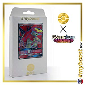 Boumata-GX (Turtonator-GX) 131/145 Full Art - #myboost X Soleil & Lune 2 Gardiens Ascendants - Box de 10 Cartas Pokémon Francés