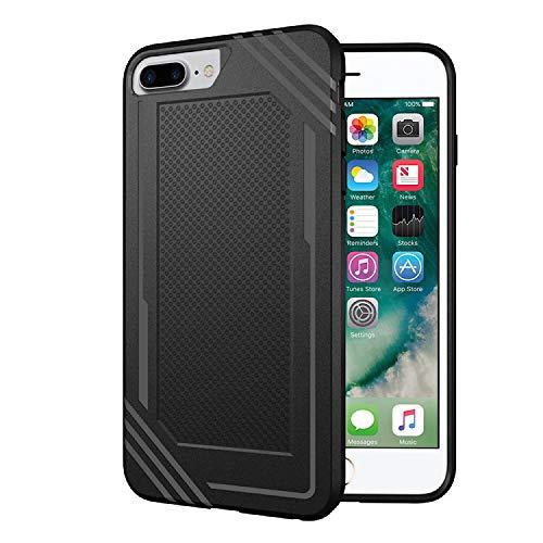 Schutzhülle für iPhone 6 Plus/6S Plus/7 Plus/8 Plus, Schwarze Hülle, TPU Schutzhülle, Kratzfest, Promo-Code auf der Seite