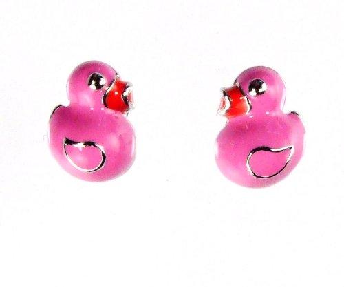 Krsnasworld® orecchini da bambino con SWAROVSKI ELEMENTS-Anatra Pink