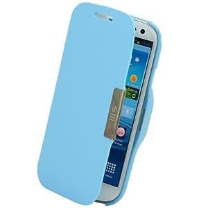 Flip Cover Schutzhülle #58 H.Blau Samsung Galaxy S3 i9300 Case Hülle Tasche Etui