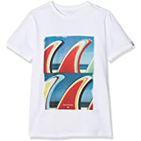 Quiksilver Classic Fin Fanatic Camiseta, Niños, Naranja (Baked Apple Heather), XS/8