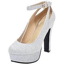 aef490df5 RAZAMAZA Zapatos de Tacon Alto para Mujer