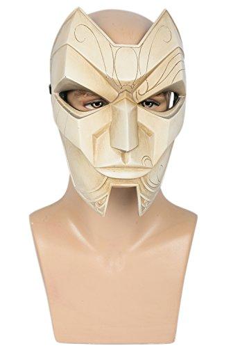 LOL Maske Cosplay Kostüm Harz Maske Spiel Replik Merchandise für Erwachsene Herren Verrücktes Kleidung (League Kostüm Legends Of Jinx)