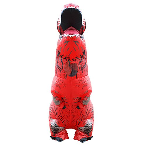THEE Halloween Inflatable T-Rex Dinosaur Blow Up Dress Up Simulation Cosplay Costume (Adult Kostüme Glück)