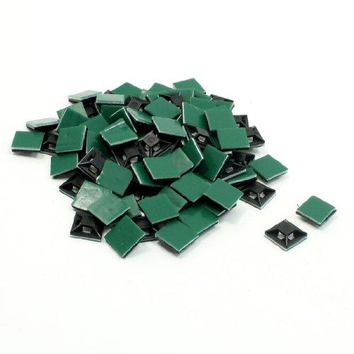 sourcingmap® 13mm x 13mm Plastik Kabel Draht Bindung Selbstklebend Basis Schwarz 100 Stück