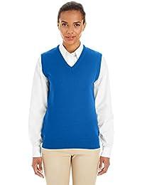 Harriton womens Pilbloc V-Neck Sweater Vest (M415W)