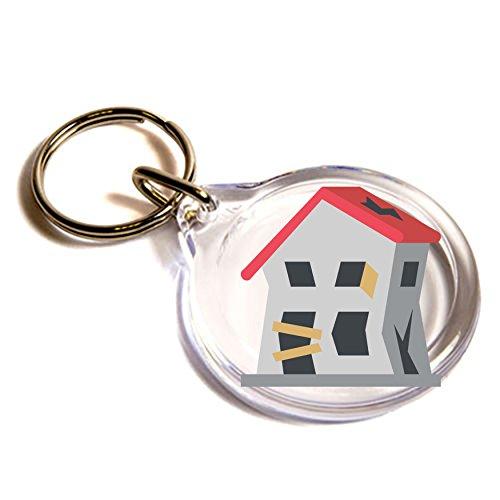 derelict-casa-edificio-emoji-llavero-derelict-house-building-emoji-key-ring