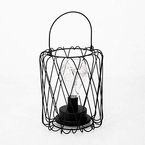 OUSENR Lámpara De Mesa Lumiparty Creativo Estilo Retro Lámpara De Mesa De Alambre De Cobre Modelado Diamante Embudo Linterna Lámpara De Mesilla Inicio Decoración De La Mesa Maison