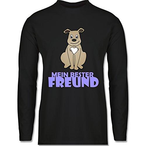 Hunde - Mein bester Freund Hund - Longsleeve / langärmeliges T-Shirt für Herren Schwarz