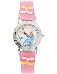 Barbie B392 - Reloj analógico para niña con correa multicolor