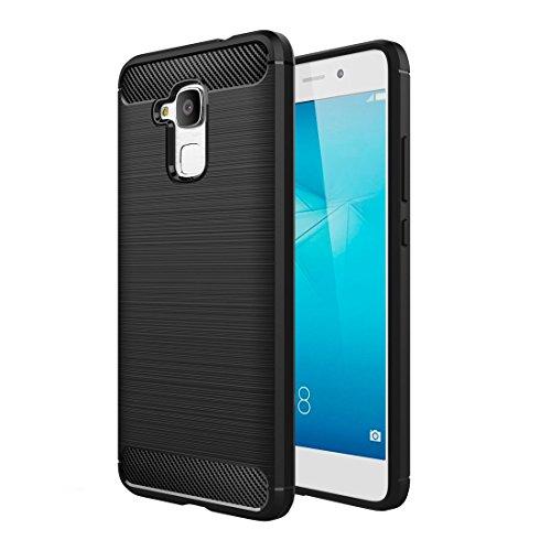 Ownstyle4you - Huawei GT3 Hülle Brushed Schutzhülle Wasserabweisend Outdoor Case Cover Bumper Anti-Scratch Plating TPU Silikon Rückschale Handyhülle Handytasche in schwarz