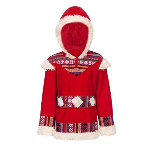 Kostümplanet® Eskimo-Kostüm Kinder Unisex Jungen und Mädchen Größe 140