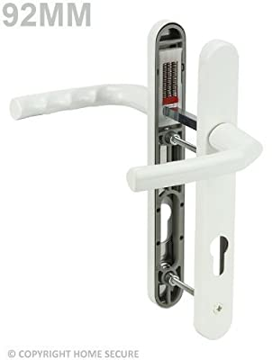 uPVC Door Handles Set Lever/Lever White 92pz - 122mm Screw to Screw - inexpensive UK door handle store.