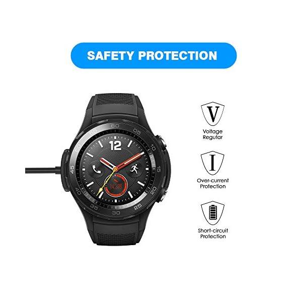KIMILAR Cable Compatible con Huawei Watch 2 / Watch 2 Pro Cargador, [2 Pack] Base de Carga USB Compatible con Huawei… 3