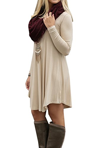 ASCHOEN - Robe - Manches Longues - Femme Beige