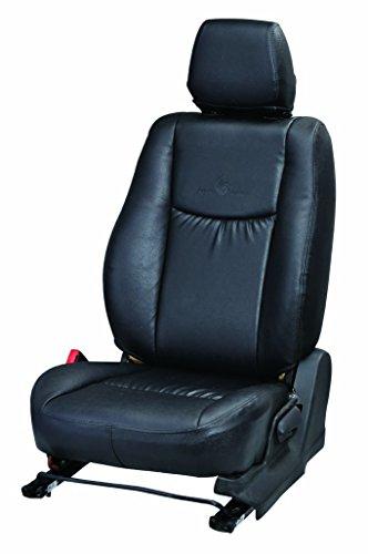 Pegasus Premium PP736 Leatherite Customised Car Seat Cover for Chevrolet Beat 2015 (Black)