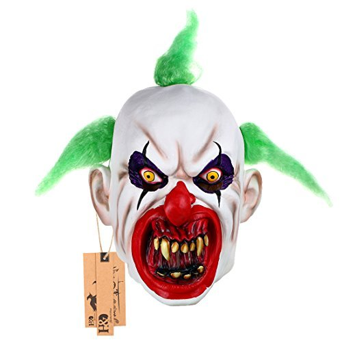 hyalinität & Dora Halloween Clown Masken, Creepy Angst oder Funny Clown Latex Maske für Kostüm Party oder Cosplay
