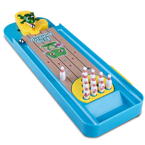 Zzh Kinder-Puzzle-Board-Spiel Creative Mini Bowling Pinball Interactive Board Game Toys