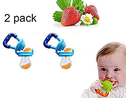 Hosaire Pack Of 2 Baby Nipple Fresh Food Milk Pacifier Dummy Soother Nibbler Feeder Safe Tool