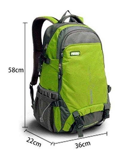 BULAGE Wanderrucksack 35L Nylon Wasserdichte Outdoor Sports Day Package Für Backpacking Camping Angelausflug Radfahren Skifahren Purple