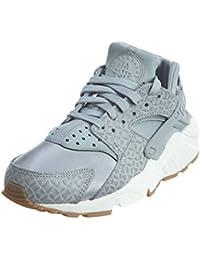 Nike Damen Air Huarache Run Sneaker Grau Weiß 683818-012