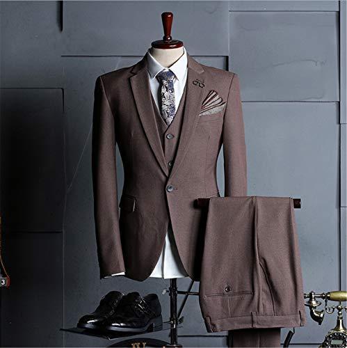 One Button Klassische Hosen-anzug (UNIQUE-F 3 Herren West Sleeve Jacke Weste Hose Classic Style One Button Offizielle Anzug Jacke Hose Einfach Elegant Dreidimensionaler Schnitt M)