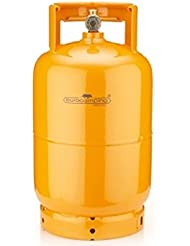 Bombona 5kg recargable de camping vacía Casa–Camping–Barbacoa eurocamping Color Naranja