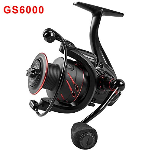 Syfinee Fishing Reel Ultra Smooth with 12+1 Ball Bearing Left/Right Interchangeable Metal Handle for Saltwater Freshwater Fishing -