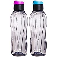 Tupperware Eco Negro tirón Botella Top Water 310 ml Conjunto ...