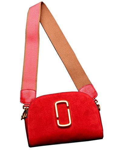 SAIERLONG Nuovo Donna Grande Rosso Vera Pelle Borse Crossbody Sacchetti di spalla Grande Rosso