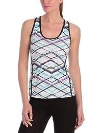 K - Swiss - Camiseta de pádel para mujer, tamaño L, color majestic morado plaid / noir