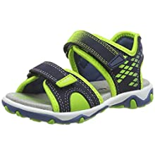 Superfit Boys' Mike 3.0 Ankle Strap Sandals, Blue Blue Green 80, 2.5 UK