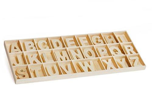 Assortiment de lettres en bois, 130 pc.