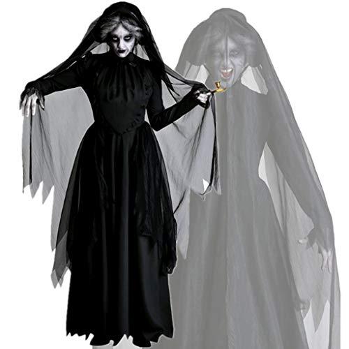 Kostüm Braut Bis Kleid Prinzessin - TINGSHOP Hexe Vampir Kleid, Teufel Braut Robe Kostüm Hexe Kostüm Kleid Party Cosplay Dark Kostüm Kostüm Für Party, Halloween, Weihnachten, Karneval,Black,XL