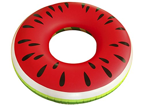 Schwimmsitz Luftmatratze Pool und Strand Wassermelone