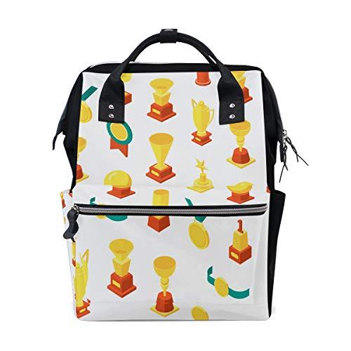 daille Trophäe glücklich große Kapazität Wickeltaschen Mama Rucksack Multi Funktionen Windel Pflege Tasche Tote Handtasche für Kinder Babypflege Reisen täglich Frauen ()