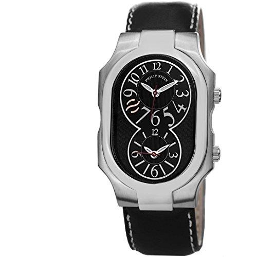 Philip Stein Femme 32mm Noir Cuir Bracelet Minéral Verre Montre 2BKCSTB