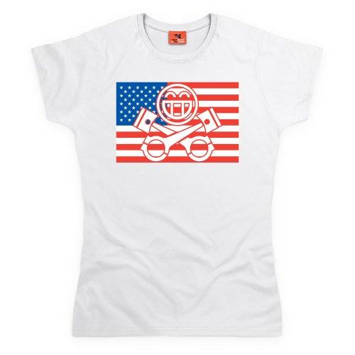PistonHeads USA T-Shirt, Damen Wei