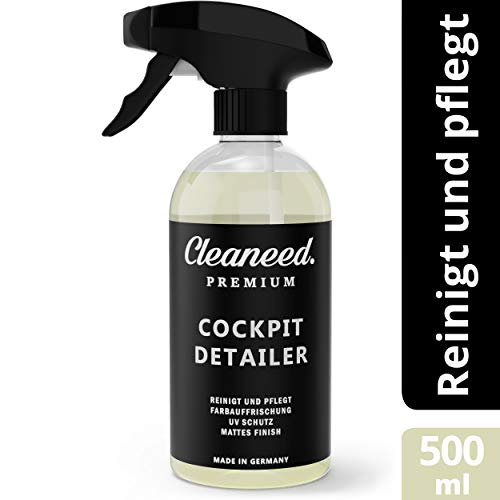 Cleaneed Premium Cockpit Detailer - Made IN Germany - Einfache Reinigung und Auffrischung Aller Materialien - 500ml