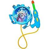 Toyshine Startoys Holi Water Gun with High Pressure, Back Holding Tank, 3 L, Disney Frozen, 3D Print, Blue