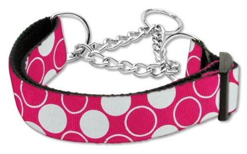 Diagonal Dots (Mirage Pet Products Martingal Diagonal Dots Nylon Hundehalsband, Large, Bright Pink)